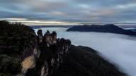 Sunrise in Blue Mountains Australia (timelapse) video