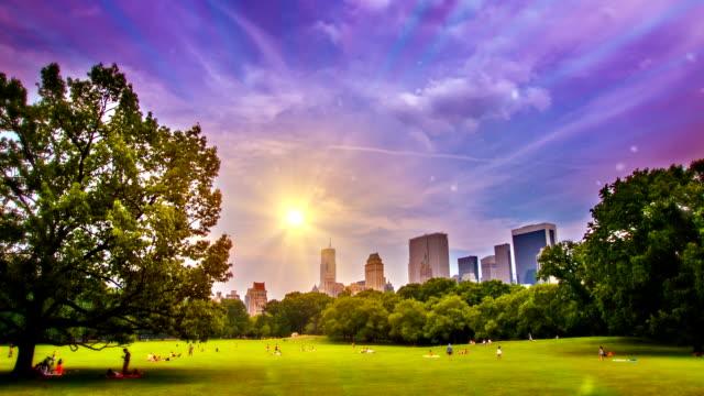 Sunrise in cenrtral park video