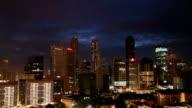 Sunrise in Singapore time-lapse video