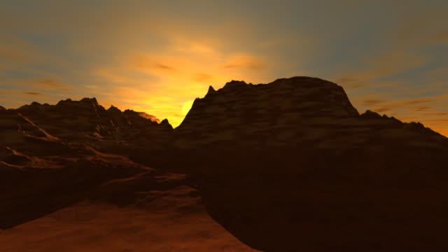 sunrise in the desert video