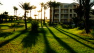 Sunrise in the hotel of Tunisia time lapse video