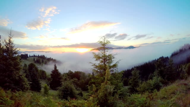 Sunrise in the Mountains. video