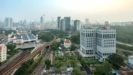 Sunrise. Kuala Lumpur city skyline. Time lapse. video