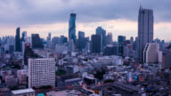 Sunrise of Bangkok city skyline video