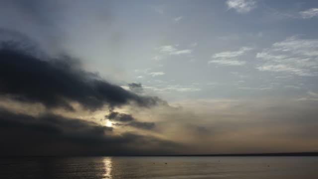 sunrise of lake video