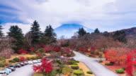 Sunrise of Mount Fuji Japan Autumn Season with Parking Lot video