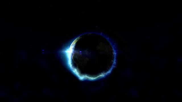 sunrise on blue planet Earth. video