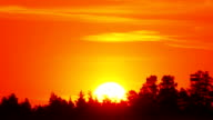 Sunrise on foggy morning video