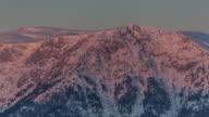 Sunrise on Mountain Karci, Denizli, Turkey video
