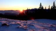 Sunrise on mountain video