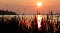 Sunrise on the  lake video