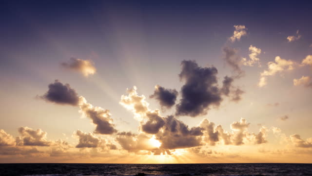 Sunrise on the Ocean Timelapse, Clouds in Motion video