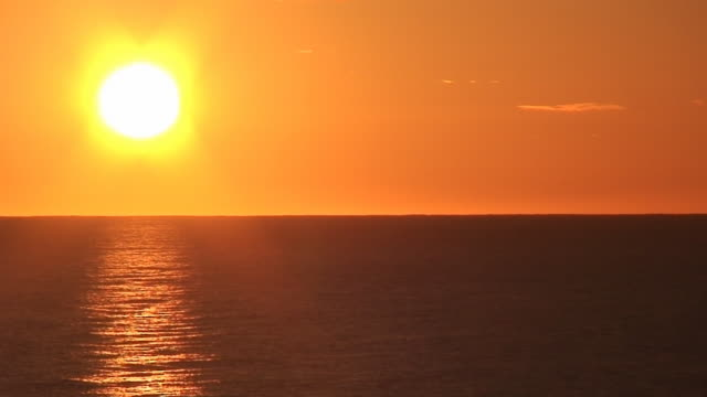 Sunrise on the sea video
