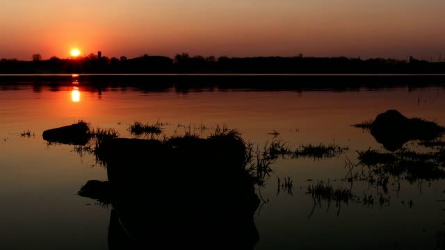 Sunrise on the water Timelapse. video