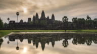 Sunrise over Angkor Wat video