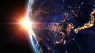 Sunrise over Asia. video