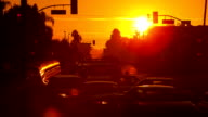 Sunrise Over Busy Street video