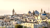 Sunrise over christian quater of old Jerusalem video