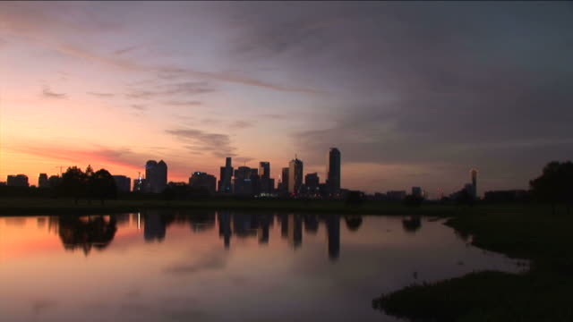 Sunrise over Dallas,Texas video