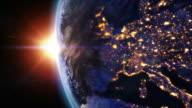 Sunrise over Europe. video