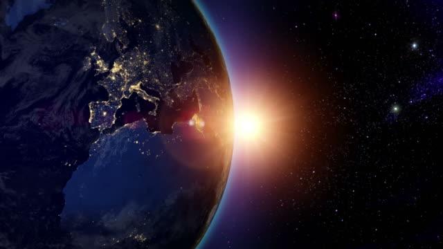 Sunrise over Europe video