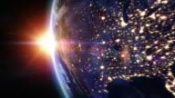 Sunrise over North America. video