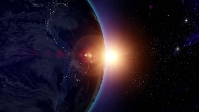 Sunrise over South America video
