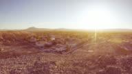 Sunrise Over Southwestern Suburban Neighborhood Time Lapse video