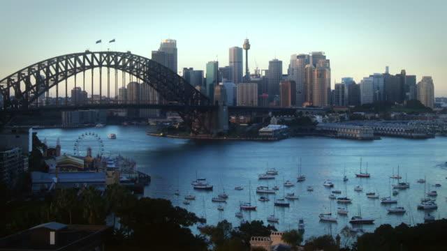 Sunrise over Sydney Harbor video