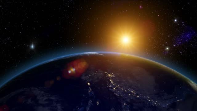 Sunrise over the Americas video