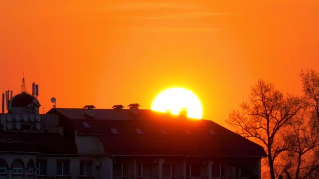 Sunrise over the Big Villa House Timelapse video