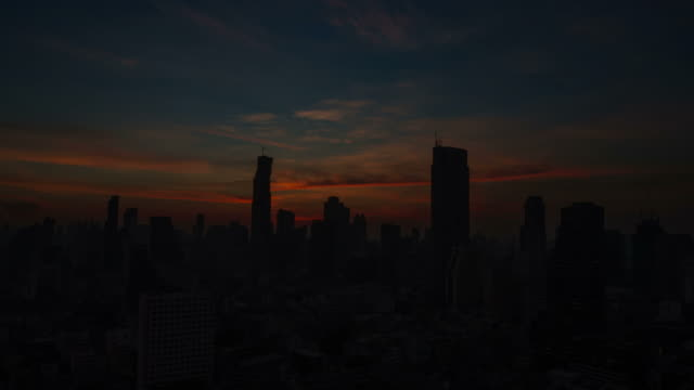 Sunrise over the city. Time lapse. video