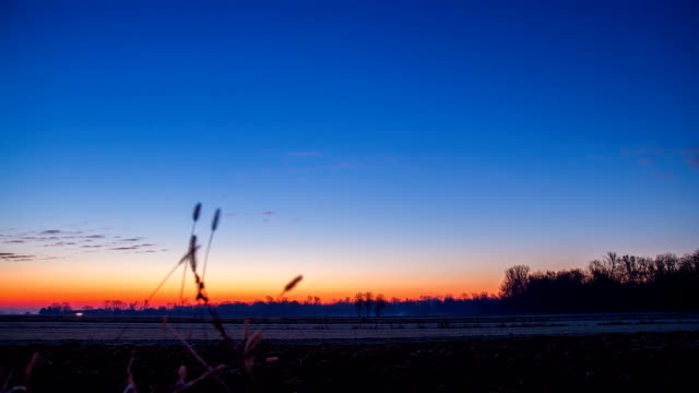 HD TIME-LAPSE: Sunrise Over The Countryside video
