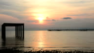 sunrise over the sea on koh chang island, Thailand video