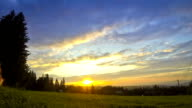 Sunrise over Zakopane city, Poland. View from Gubalowka mount video