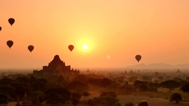 Sunrise Panorama in Bagan Myanmar video