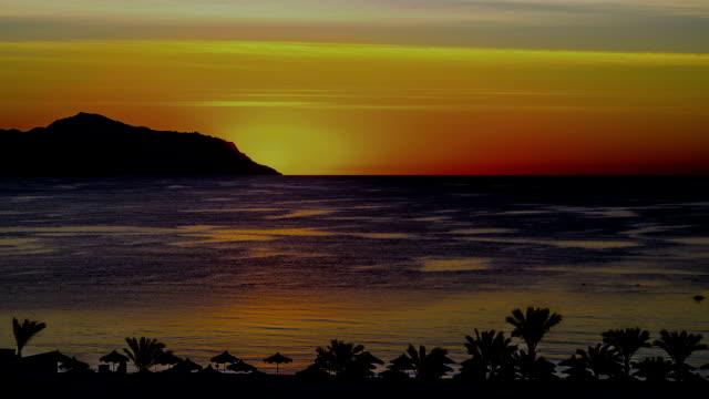 Sunrise. Red Sea. Sinai peninsula. video