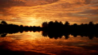 Sunrise sky and reflection video