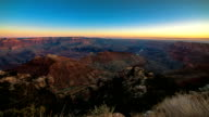 Sunrise Sunset over Grand Canyon Panoramic Vista video