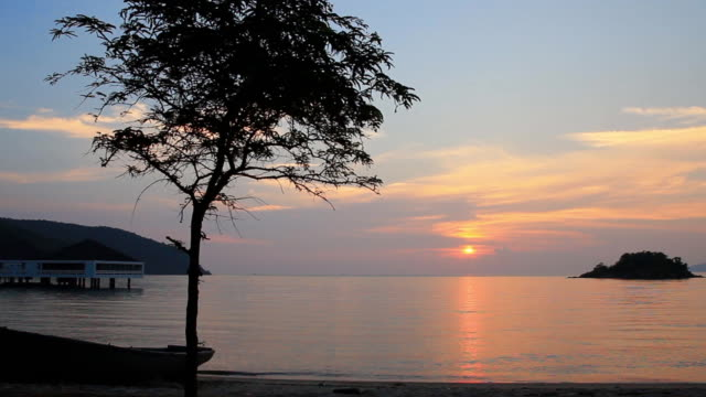 Sunrise / Sunset over sea video