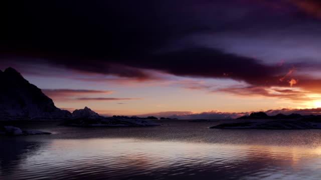 Sunrise / Sunset Sea video