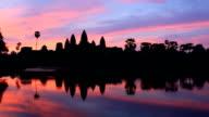 Sunrise time Angkor Wat video