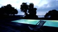 Sunrise Timelapse over Swimming Pool video