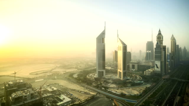 DUBAI Sunrise Timelapse Skyline video