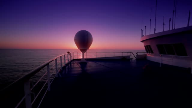 Sunrise veiw from the ship video