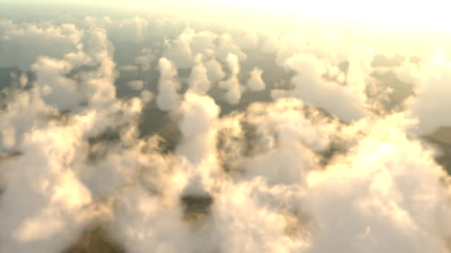 Sunset above the clouds video