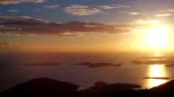 Sunset aerial view over Cruz Bay, St.John, US Virgin Islands video