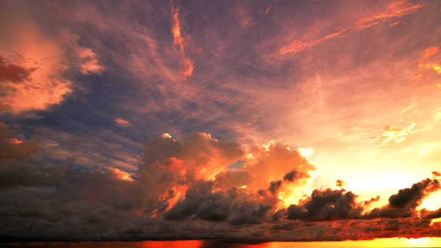 Sunset and Cloudscape Moving video