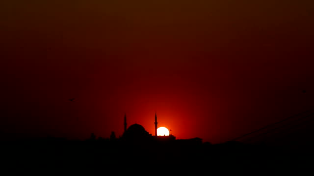 sunset and mosque video