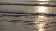 Sunset and sea on the beach video